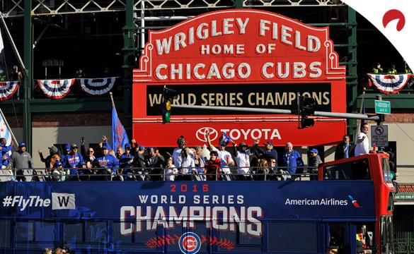 The Chicago Cubs celebrating their 2016 World Series victory which had strong TV viewership.