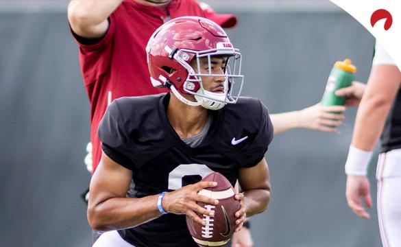 Bryce Young and Alabama are slightly favored in the latest 2021 SEC championship odds.