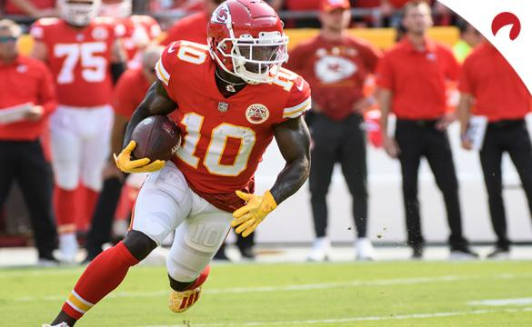 Tyreek Hill favored in latest 2021 NFL receiving yards leader odds.