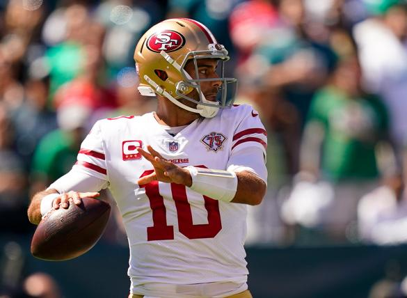 Jimmy Garoppolo's 49ers are favored in the Green Bay vs San Francisco odds for Week 3.