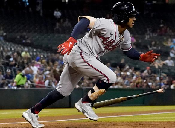 Ozzie Albies and the Atlanta Braves visit the San Diego Padres on Saturday night.