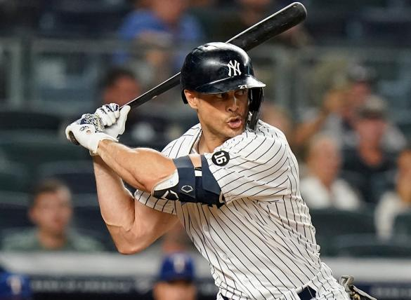 Giancarlo Stanton and the Yankees hope to sweep the Red Sox on Saturday.