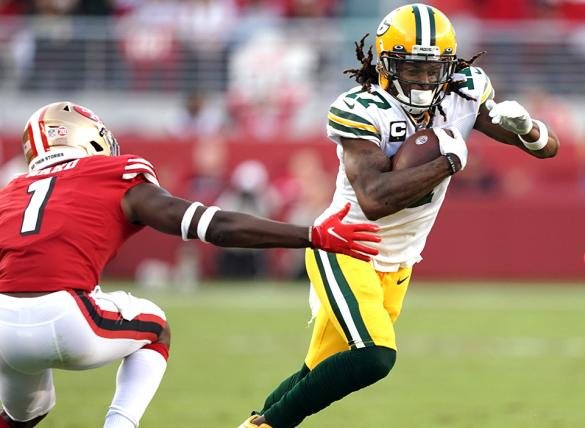 Davante Adams and theGreen Bay Packers are solid favorites in NFL betting odds Sunday vs Pittsburgh.