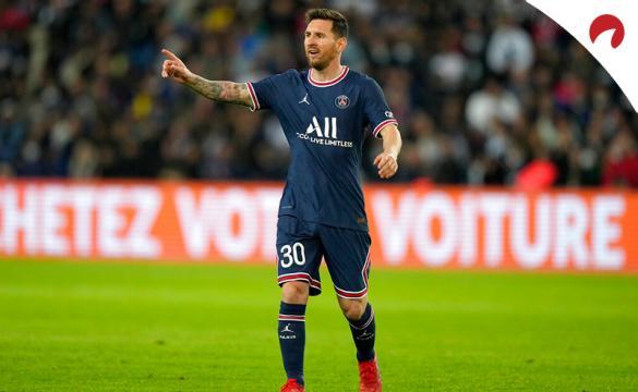 Messi en un partido del PSG. Conoce las cuotas y los pronósticos del PSG Vs Manchester City de la Champions League.