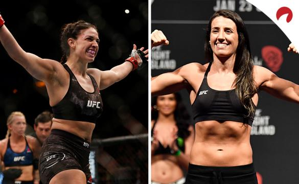 Mackenzie Dern (left) is favored in the Dern vs Rodriguez (right) odds for this weeks UFC Fight Night.