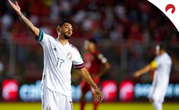 Jesús Corona en un partido con El Tri. Conoce las cuotas y los pronósticos para el México Vs Canadá de clasificación.