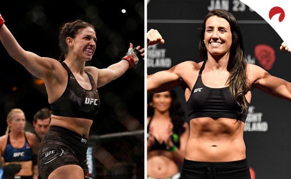 Mackenzie Dern (izquierda) es favorita en las cuotas en el Dern vs Rodríguez (derecha) de esta semana en UFC Fight Night