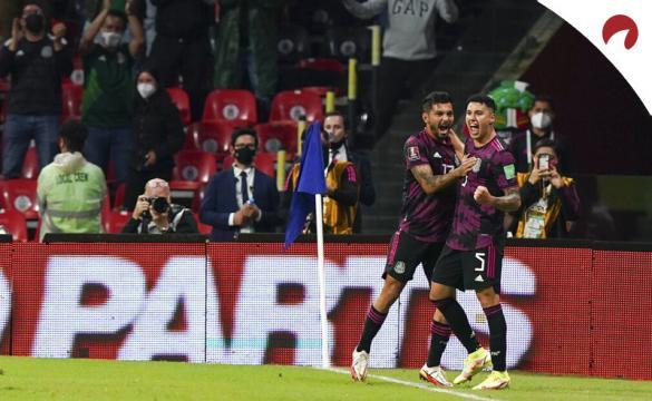 Imagen de Jorge Sánchez celebrando un gol con el Tri. Cuotas y pronósticos México vs Honduras