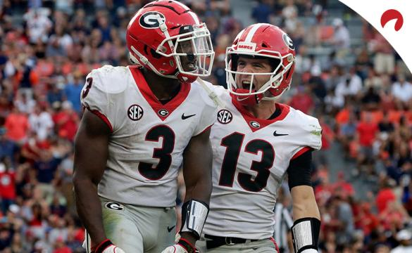 Georgia Bulldogs favored over Alabama in latest College Football Championship odds.