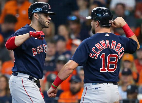 JD Martinez and the Red Sox are favored in MLB betting odds to win Game 3 of the ALCS vs the Astros.