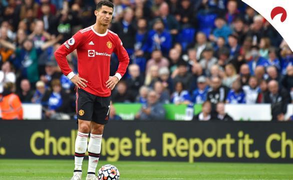 Cristiano Ronaldo en un partido con los Red Devils. Mira las cuotas y los pronósticos del Manchester United Vs Atalanta.