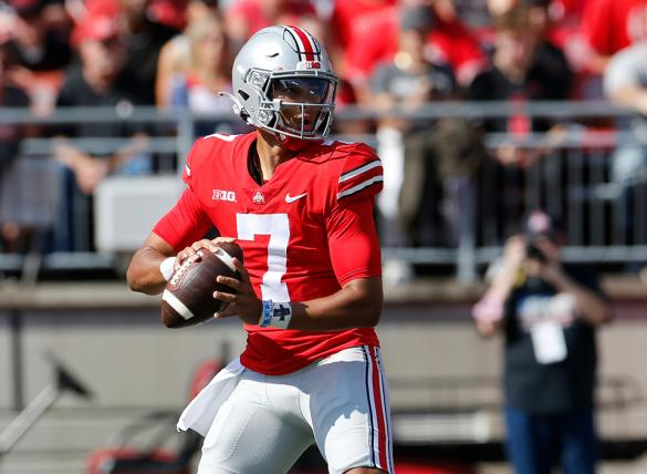 C.J. Stroud's Buckeyes are favored in the Ohio State vs Indiana odds for Week 7.