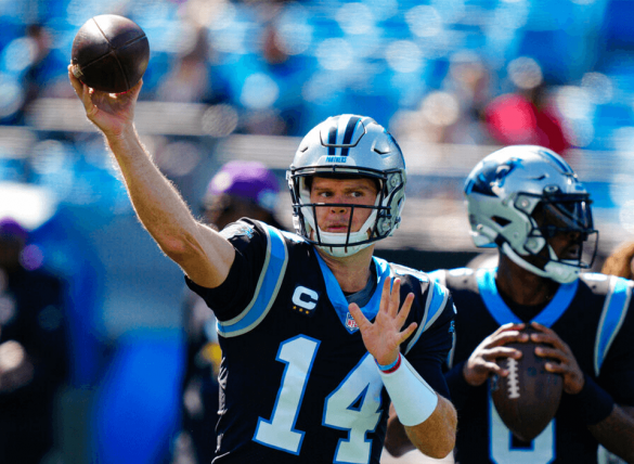 Sam Darnold leads the Panthers against the Giants