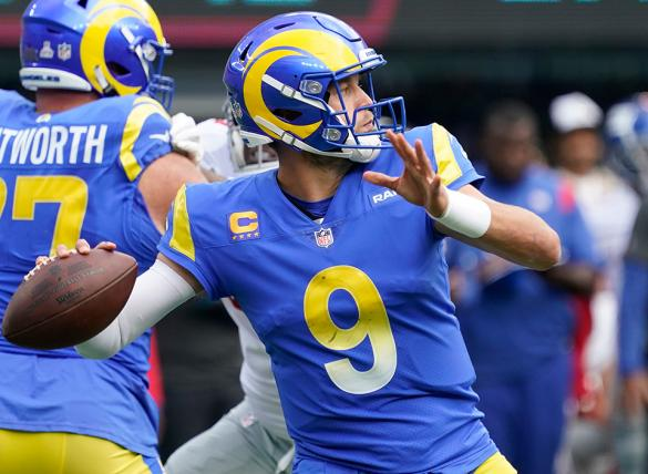 Matthew Stafford and the Rams are huge favorites in NFL betting odds as he faces his former team, the Detroit Lions.