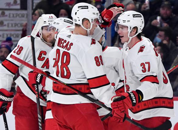 Andrei Svechnikov and the Hurricanes are small home underdogs Monday vs the Maple Leafs in NHL betting odds.
