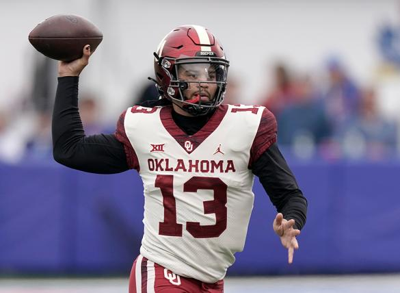 Caleb Williams' Sooners are favored in the Texas Tech vs Oklahoma odds for Week 9.